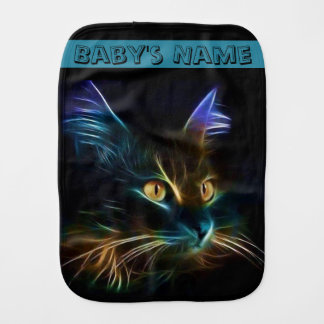 Whiskers Burp Cloth