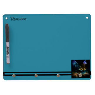 Whiskers Dry Erase Board With Keychain Holder