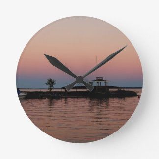 Whiskey Bay Sunset, St Joseph Island Clock