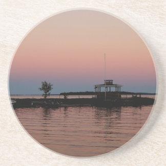 Whiskey Bay Sunset, St Joseph Island Drink Coaster