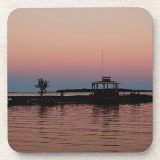 Whiskey Bay Sunset, St Joseph Island Drink Coaster