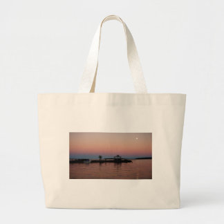 Whiskey Bay Sunset, St Joseph Island Large Tote Bag