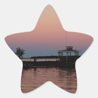 Whiskey Bay Sunset, St Joseph Island Star Sticker