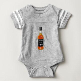 Whiskey Bottle Drawing Isolated On White Backgroun Baby Bodysuit