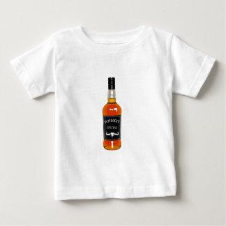 Whiskey Bottle Drawing Isolated On White Backgroun Baby T-Shirt