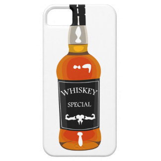 Whiskey Bottle Drawing Isolated On White Backgroun Case For The iPhone 5
