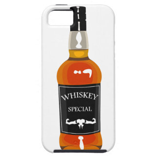 Whiskey Bottle Drawing Isolated On White Backgroun iPhone 5 Covers