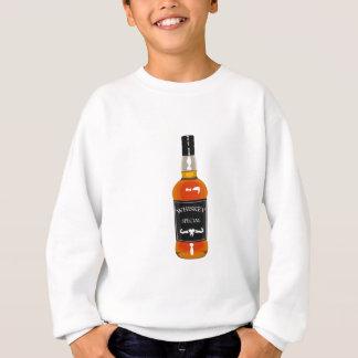 Whiskey Bottle Drawing Isolated On White Backgroun Sweatshirt