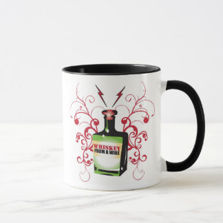 Whiskey Bottle Logo Mug