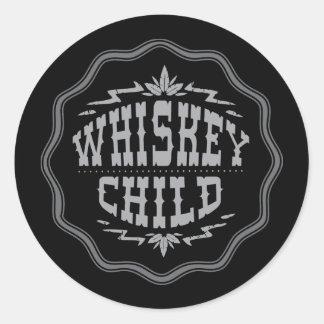 WHISKEY CHILD - Black Sticker w/Fall Harvest Logo