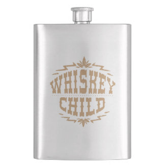 WHISKEY CHILD - Flask with Fall Harvest Logo