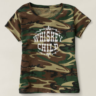 WHISKEY CHILD - Women's Camo T-Shirt