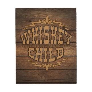 WHISKEY CHILD - Wood Wall Art w/Fall Harvest Logo