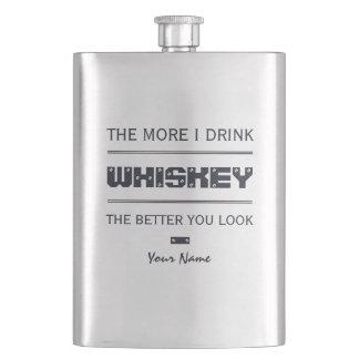 WHISKEY custom monogram flask