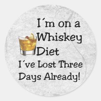 Whiskey Diet Round Sticker
