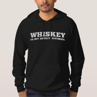 Whiskey Is My Spirit Animal Hoodie