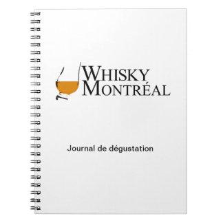 whiskey Montréal de plongeurs d'articles Carnet À Spirale