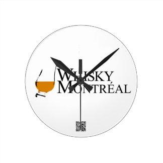 whiskey Montréal de plongeurs d'articles Horloge Ronde