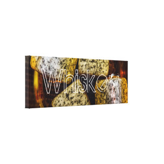Whiskey on the Rocks   Panoramic Canvas Print