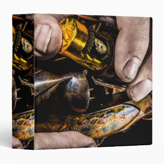Whiskey Shot 3 Ring Binder