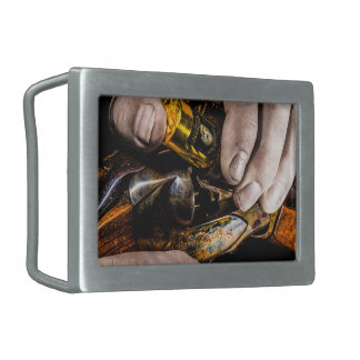 Whiskey Shot Rectangular Belt Buckles