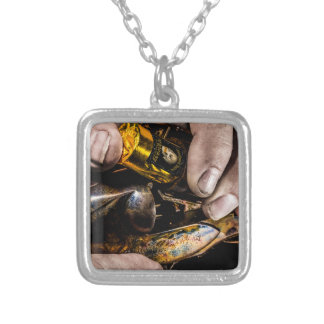 Whiskey Shot Silver Plated Necklace