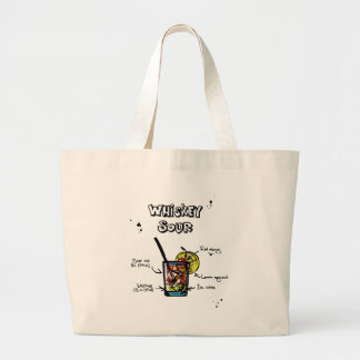 Whiskey Sour Cocktail  Recipe Large Tote Bag