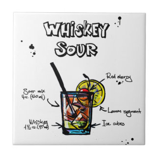 Whiskey Sour Cocktail  Recipe Tile
