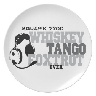 Whiskey Tango Foxtrot - Aviation Humor Party Plate