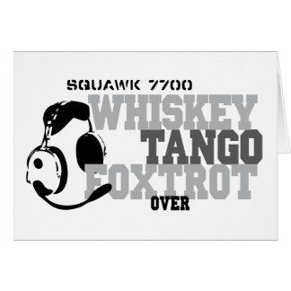 Whiskey Tango Foxtrot - Aviation Humour Card