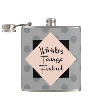 Whiskey Tango Foxtrot Funny Hip Flask