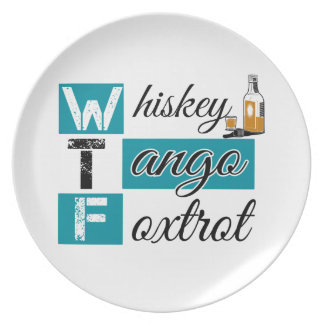 Whiskey Tango Foxtrot Party Plate