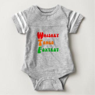 Whiskey Tango Foxtrot WTF funny Baby Bodysuit