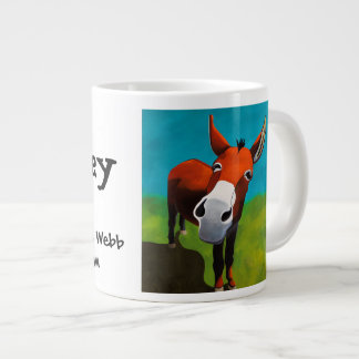 Whiskey the donkey jumbo coffee mug