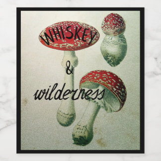 Whiskey & Wilderness Toadstool Flask Sticker