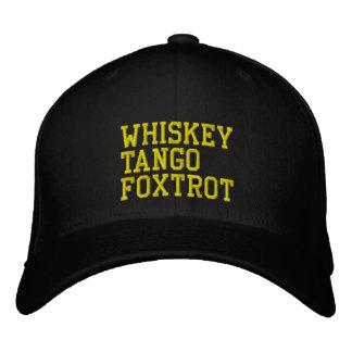 WhiskeyTangoFoxtrot Hat (military version) Embroidered Baseball Caps