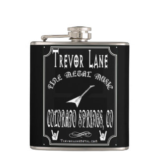 Whisky Label Flask