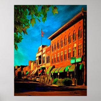 """Whisky Row"" Prescott Arizona Poster"