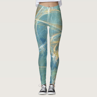 Whisper 3D Abstract Fractal Leggings