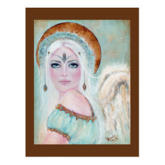 Whisper Angel Holiday postcard by Renee L. Lavoie