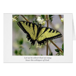 Whisper butterfly card