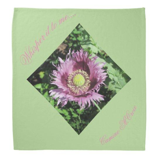 Whisper it to me....pink poppy kerchief/ kerchief