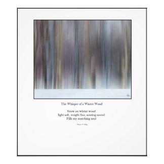 Whisper of Winter Wood Haiku Redux - Open Ed Print