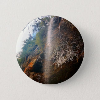 Whispering Falls, Hocking Hills Ohio 2 Inch Round Button