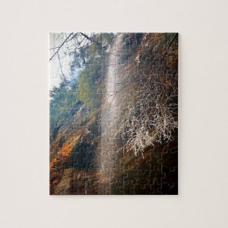 Whispering Falls, Hocking Hills Ohio Jigsaw Puzzle