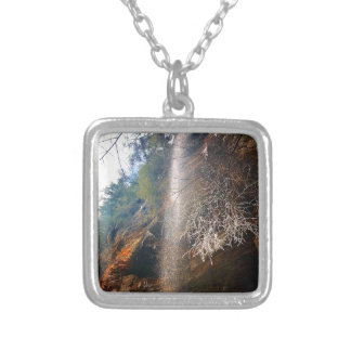 Whispering Falls, Hocking Hills Ohio Silver Plated Necklace