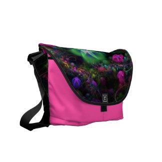 Whispering Flowers Messenger Bag Outside Print