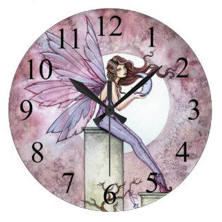 Whispering Moon Fairy Fantasy Art Clock