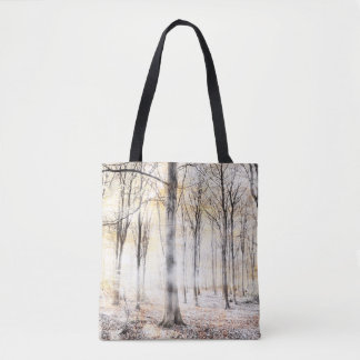 Whispering woodland in autumn fall tote bag