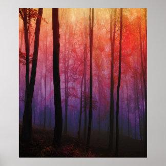 Whispering Woods, Trees Forest Landscape Art Poster